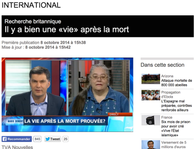 La nouvelle annoncée sur le site de TVA Nouvelles.