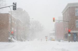 Tempête de neige à Montréal. Photo par Matias Garabedian