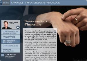 Le dossier sur la Synergologie dans La Presse +.